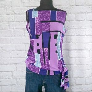 Vintage Tops - Abstract Sleeveless Vintage Top Blouse
